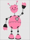 Pink Girl Robot