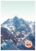 Mountains, vector geometric illustration consisting of triangles