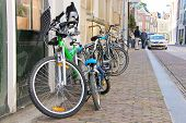 Bike On The Street  In Dordrecht, Netherlands