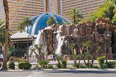 Waterfall Near The Mirage Hotel  In Las Vegas