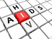 stock photo of scrabble  - Aids HIV image with hi - JPG