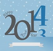 New Year Greetings Card of 2014. Happy Holidays