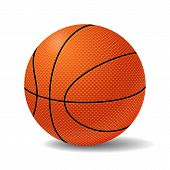 stock photo of basketball  - Realistic Basketball Ball - JPG