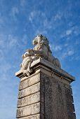 Lion Sculpture Of A Bridge (1868). Arles, France