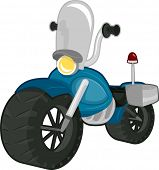 Illustration of a Police Motorbike with a Windshield