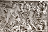Antique relief in the Vatican Museum