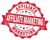 Affiliate Marketing Red Grunge Vintage Seal