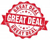 Great Deal Red Grunge Vintage Seal