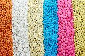 Pharmacy theme, Heap of white round medicine tablet antibiotic pills