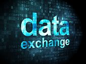 Information concept: Data Exchange on digital background