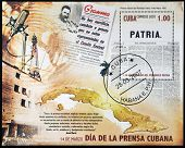 A stamp printed in Cuba dedicated to Cuban Press Day