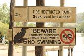 Australian Crocodile Warning Sign