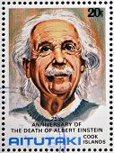 stamp printed in Cook Islands in honor of Mathematician Physicist Nobel Prize Winner Albert Einstein