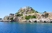 view of the old fortress from the sea, Corfu Town, Greece, Europe
