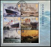 UNITED KINGDOM - CIRCA 2004: Collection stamps printed in Great Britain dedicated to ocean liners