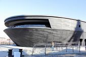 The new protective home of the Mary Rose