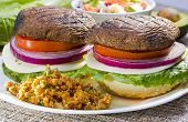 Grilled Portabella Burger.