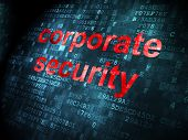 Security concept: Corporate Security on digital background