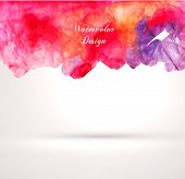 Abstract Watercolor Art Background. Vector.
