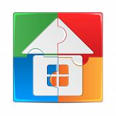 image of premises  - colorful puzzle with a picture of the house - JPG