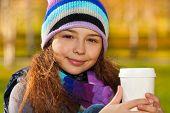 School Girl With Coffee