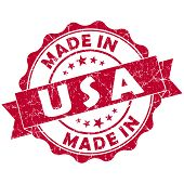 Made In Usa Red Grunge Seal