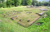 Sarmizegetusa Regia (situated at 1200m altitude, it was the strategical centre of the dacian defensi