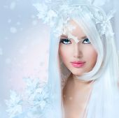 stock photo of snow queen  - Winter Beauty - JPG