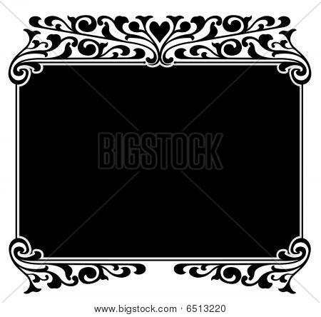 Black and White Frame Borders