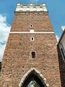 Opatowska Gate, erected in 14th century, Sandomierz, Poland