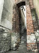 Dominican gate in curtain walls, also called as Ear of a Needle, Sandomierz, Poland