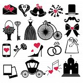 foto of shoe-box  - Vector Design wedding flat icons for Web and Mobile - JPG