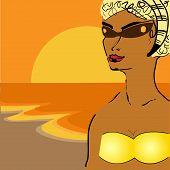 Girl On Seeshore
