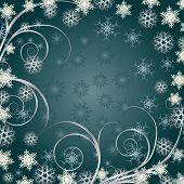 Hintergrund Siver Schneeflocken