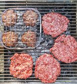 Burgers At The Outdoor Grill