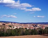 stock photo of parador  - View of the town taken from the Paradore Teruel Teruel Province Aragon Spain Western Europe - JPG