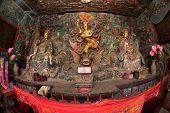 Chinese God Near Dragon Gate On Kumming City.
