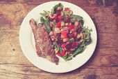 Sirloin Steak And Salad