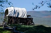 Covered Wagon At The Edge Of The Desert