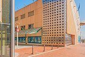 Modern Building In Port Olympic In Barcelona, Spain