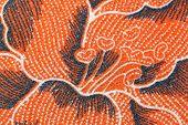 Thai Batik Sarong Flower Pattern.
