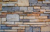 Modern Stacked Stone Wall