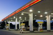 JACKSONVILLE, FL-MAY 16, 2014: A Shell gas station in early morning in Jacksonville. According to Fo