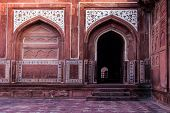 Red Arches And Marble Inlay Designs
