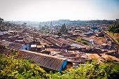 Panoriamic view of Kibera slums in Nairobi, Kenya. The largest slum of Africa is in Nairobi. About 2