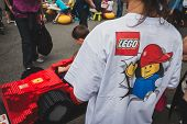 Detail Of A T-shirt At Lego Village In Milan, Italy