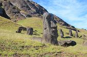 Moai at Quarry, Easter Island