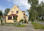 stock photo of middle class  - Swedish middle class home in Stockholm area - JPG