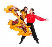 stock photo of gypsy  - Gypsy flamenco dancer couple - JPG
