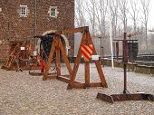 Medieval Training Apparatus  In Kasteel Hoensbroek, One Of The Most Famous Dutch Castles. Heerlen. N